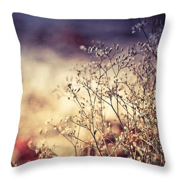 Fascinating Life Of Grass. Painting With Light Throw Pillow by Jenny Rainbow