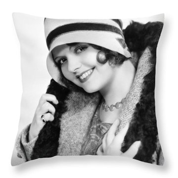 Fashion: Cloche Hat, 1929 Throw Pillow by Granger