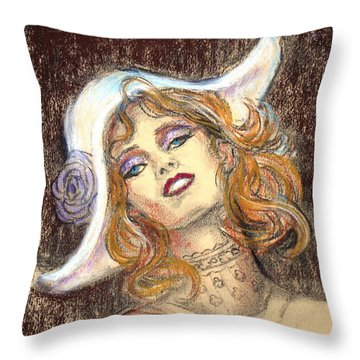 Fashion Drawing Throw Pillow