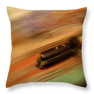 Fast Train Set Throw Pillow