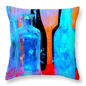Fauvist Bottles Throw Pillow