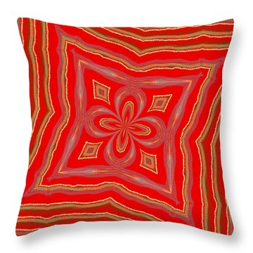 Throw Pillow featuring the digital art Favorite Red Pillow by Alec Drake