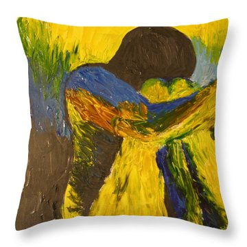Fear Throw Pillow by Ty Agha