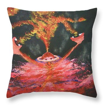 Fearless Rage Throw Pillow
