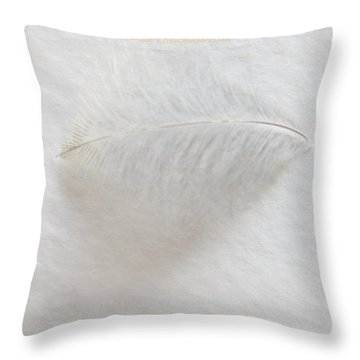 Feather Touch Throw Pillow by Sonali Gangane