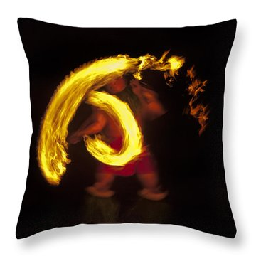 Feel The Heat Throw Pillow by Mike  Dawson