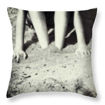 Feet In The Sand Throw Pillow by Joana Kruse