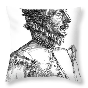 Felix Plater, Swiss Physician Throw Pillow by Science Source
