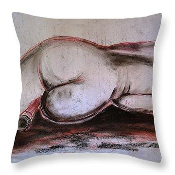 Female Nude Sleeping Throw Pillow