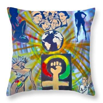 Feminism 101 Throw Pillow by Tony B Conscious