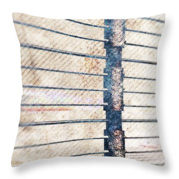 Throw Pillow featuring the digital art Fence Post by Phil Perkins