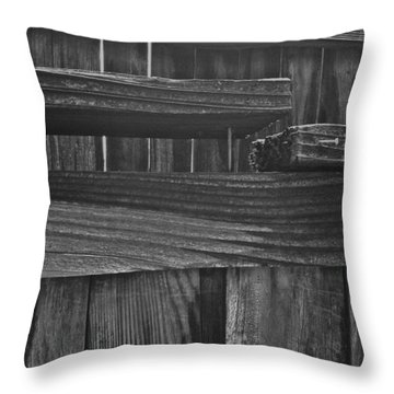 Fence To Nowhere Throw Pillow by Bill Owen