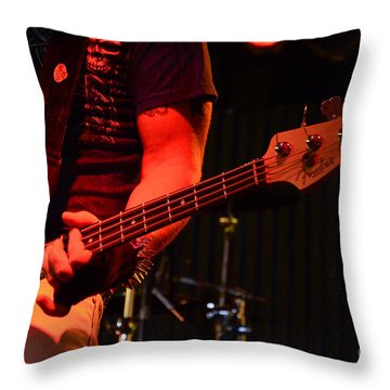 Fender Bender Throw Pillow by Bob Christopher