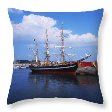 Fenit, Co Kerry, Ireland Famine Ship Throw Pillow by The Irish Image Collection