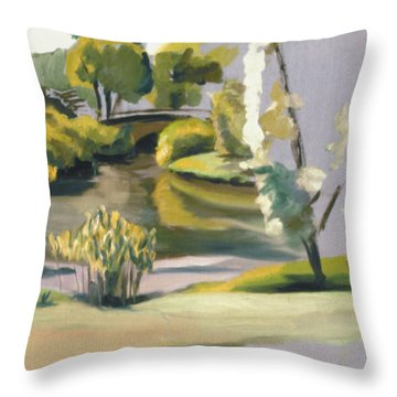 Fenway In Boston 1977 Throw Pillow by Nancy Griswold