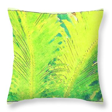 Throw Pillow featuring the photograph Ferns by Donna Bentley
