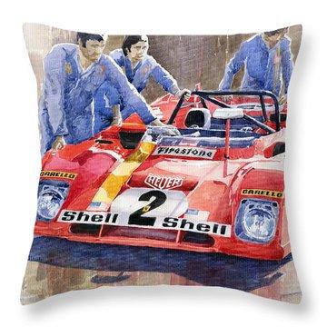 Ferrari 312 Pb 1972 Daytona 6-hour Winning Throw Pillow