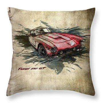 Ferrari Throw Pillow by Svetlana Sewell