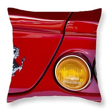 Ferrari Taillight Emblem 2 Throw Pillow by Jill Reger