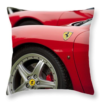 Ferraris 5 Throw Pillow by Jill Reger