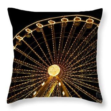 Ferris Wheel Throw Pillow by Bernard Jaubert