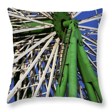 Ferris Wheel  Throw Pillow by Stelios Kleanthous