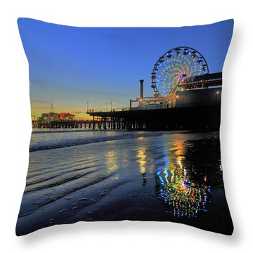 Ferris Wheel Sunset Throw Pillow