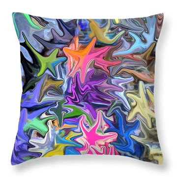 Festival Of Flowers IIi Throw Pillow by Chris Butler