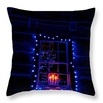 Festive Lights Throw Pillow