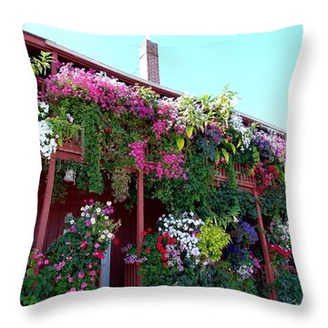 Throw Pillow featuring the photograph Festooned In Flowers by Will Borden