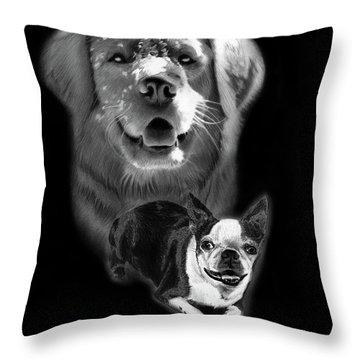 Festus And Rosie Throw Pillow