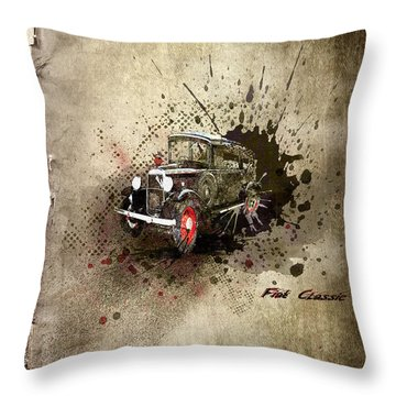 Fiat Classic Throw Pillow by Svetlana Sewell