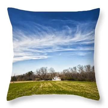 Field And Sky Throw Pillow