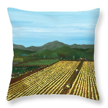 Field Of Yarrow-that's A Flower Throw Pillow