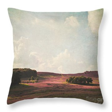 Fields Of Heather Throw Pillow by Lyn Randle