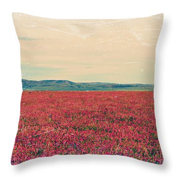 Fields Of Heaven Throw Pillow by Leanna Lomanski