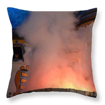 Fiery Entrance Throw Pillow