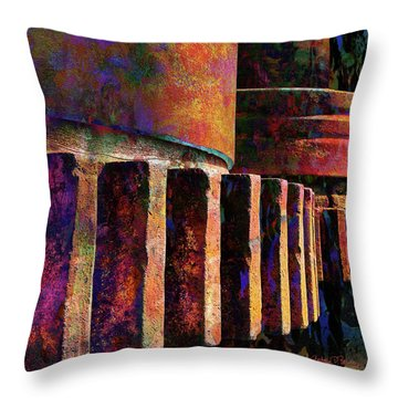 Fiery Glow Throw Pillow