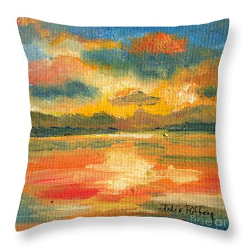 Fiery Sunset Throw Pillow by Julie Brugh Riffey