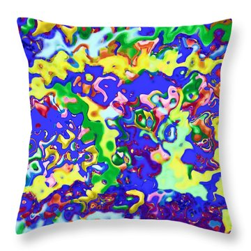Throw Pillow featuring the digital art Fiesta In San Antonio by Alec Drake