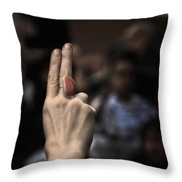 Fight For Your Rights Throw Pillow by Evelina Kremsdorf
