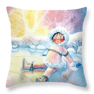 Figure Skater 10 Throw Pillow