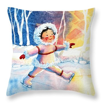 Figure Skater 11 Throw Pillow by Hanne Lore Koehler