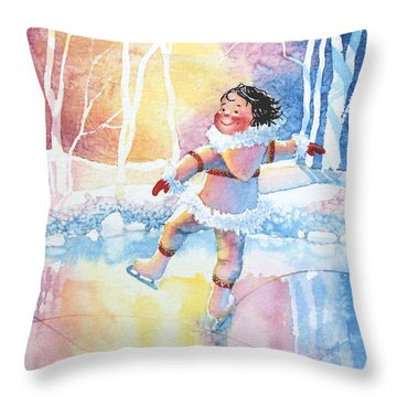 Figure Skater 13 Throw Pillow