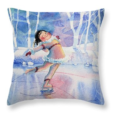 Figure Skater 14 Throw Pillow