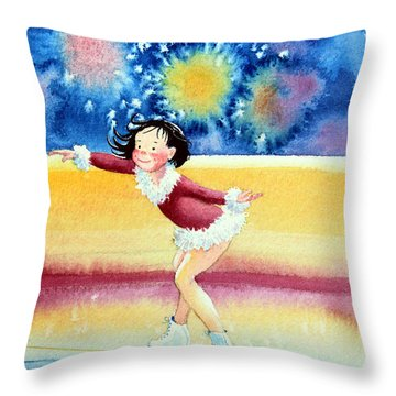 Figure Skater 17 Throw Pillow