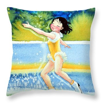 Figure Skater 18 Throw Pillow