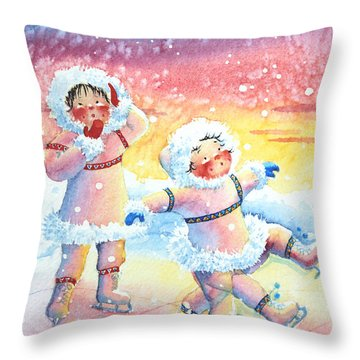 Figure Skater 9 Throw Pillow