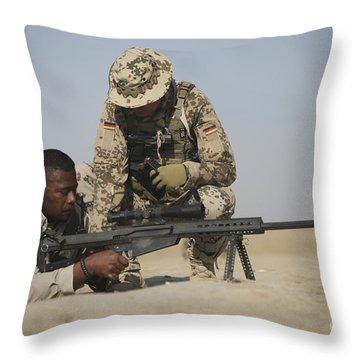 Fijian Contractor Clearing His Barrett Throw Pillow by Terry Moore