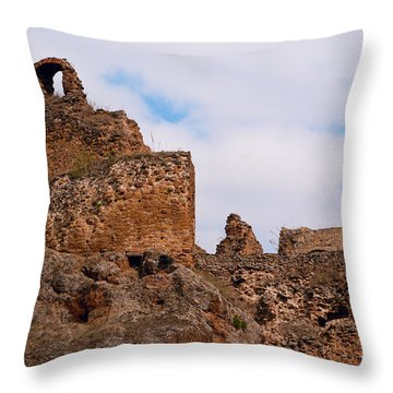 Throw Pillow featuring the photograph Filakovo Hrad - Castle by Les Palenik